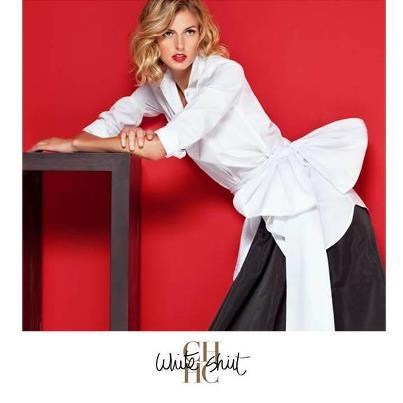 White Skirt Carolina Herrera