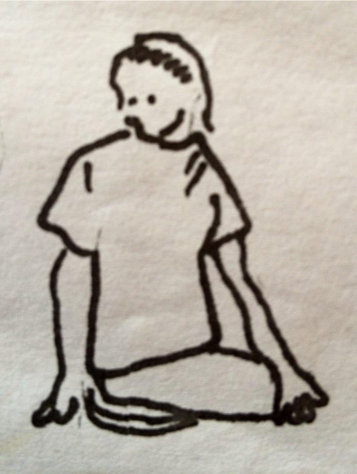 La Torsión del sabio (o Torsión de rodillas)