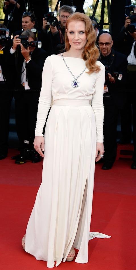 Jessica Chastain de Versace