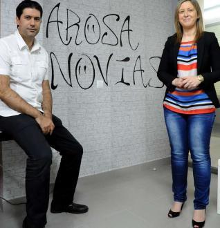 Juan Antonio Lijó y Marta García de Klip organizadores de Arosa Novias (Imagen Iñaki Abella)