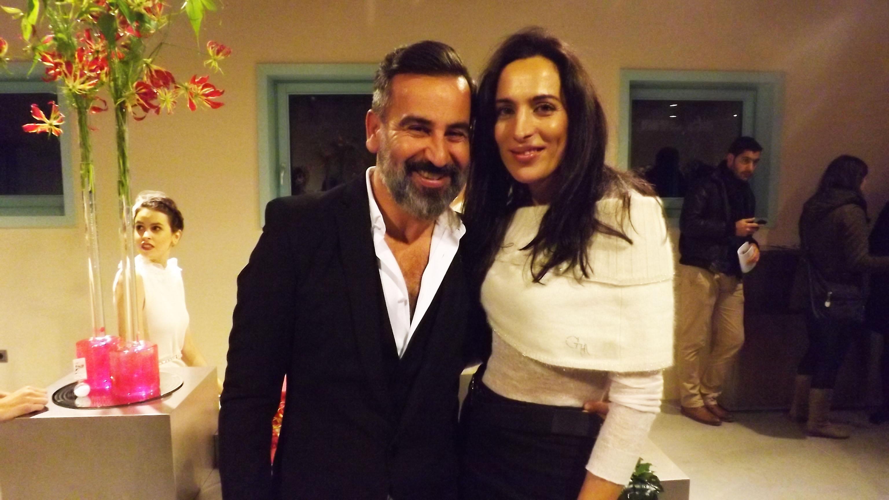 Con el diseñador Franco Quintans