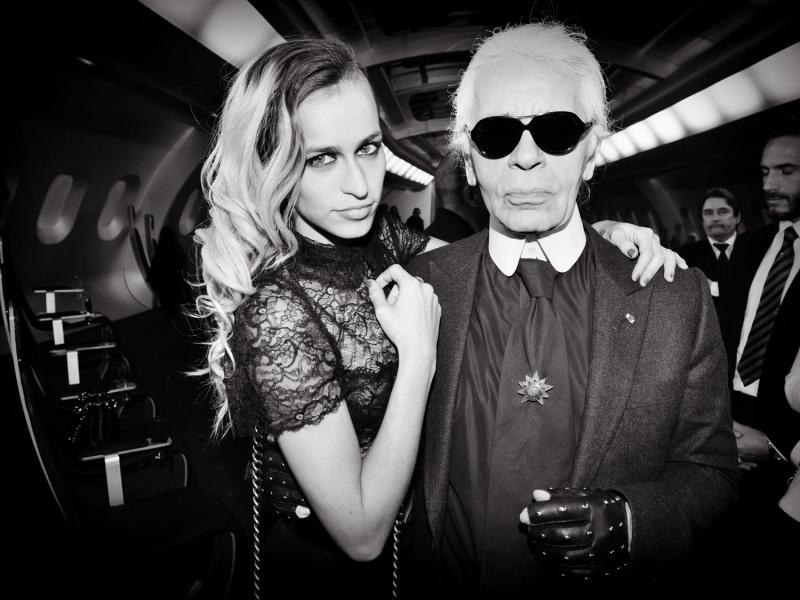 Alice_dellal,Karl_Lagerfeld
