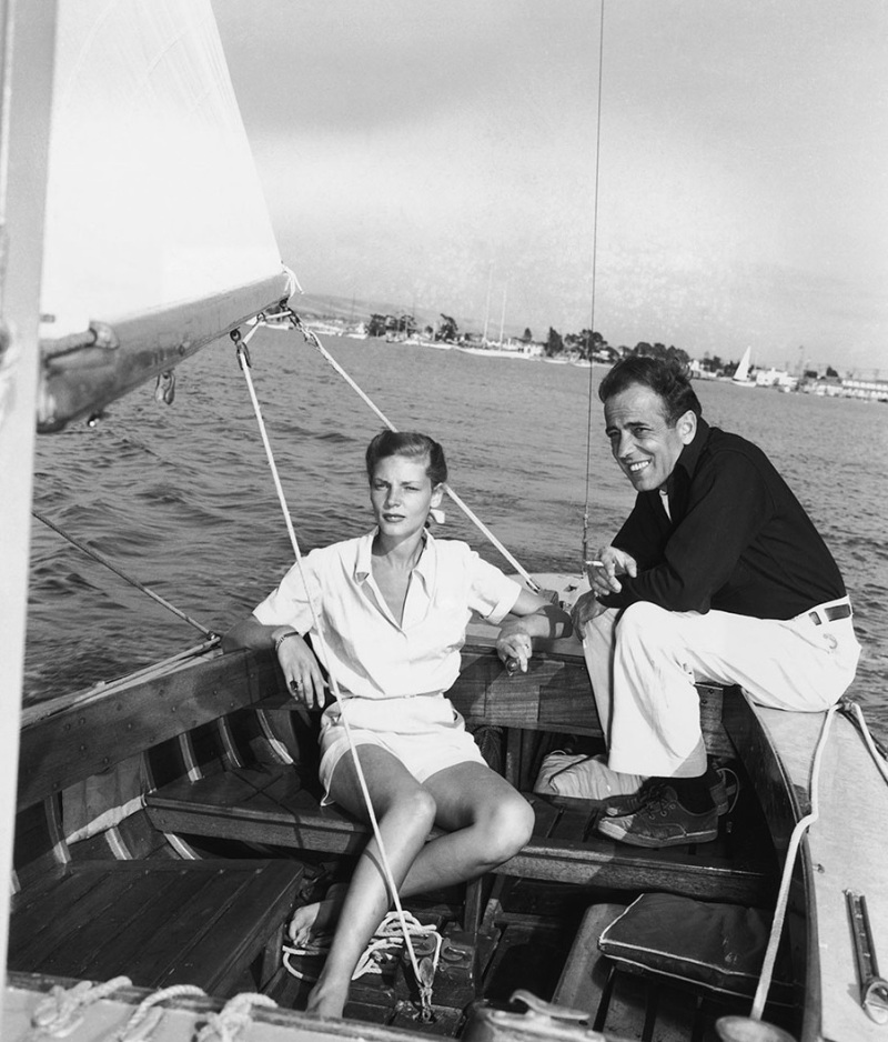humphrey-bogart-1899-1957-and-lauren-bacall-aboard-the-santana-a-55-foot-16-ton-yawl-the-bogarts-kept-the-santana-at-newport-beach-next-to-lauren-bacall-the-santana-was-the-great-l