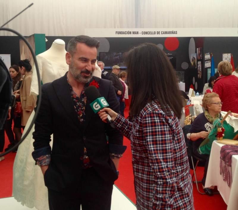 Franco Quintans durante su entrevista en directo para la CRTVG